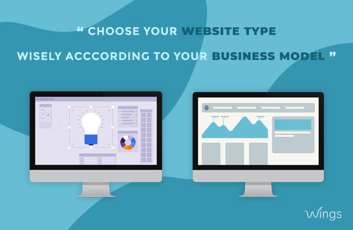 Choose your Website Types wisely according to your Business Model